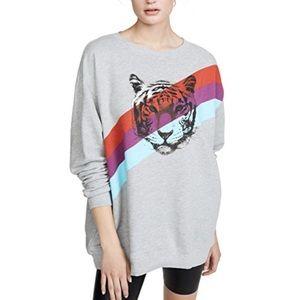 WILDFOX | Grey Tiger Stripes Sweater Size L